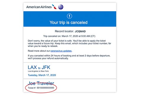 Cancel trip email