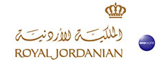 Royal Jordanian Airlines and oneworld logos