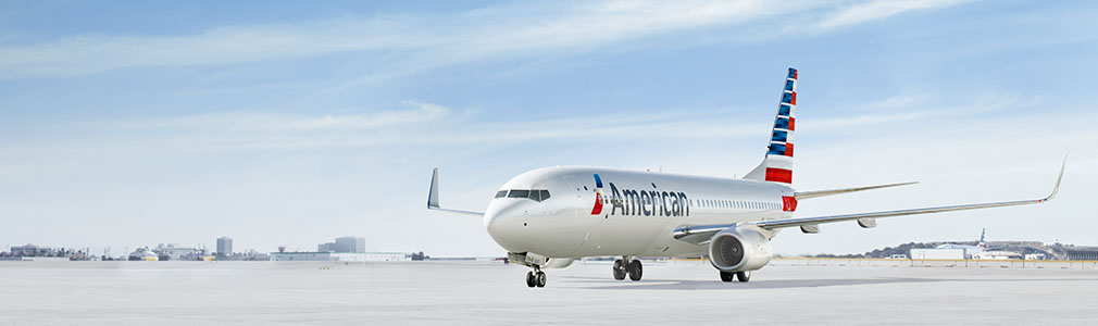 Image of American Airlines 737 on runway