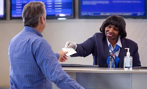 Image of American Airlines ticket counter